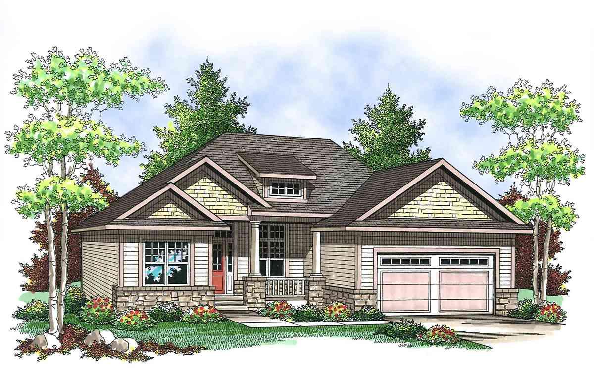 Craftsman Ranch Home Plan 89655ah Architectural
