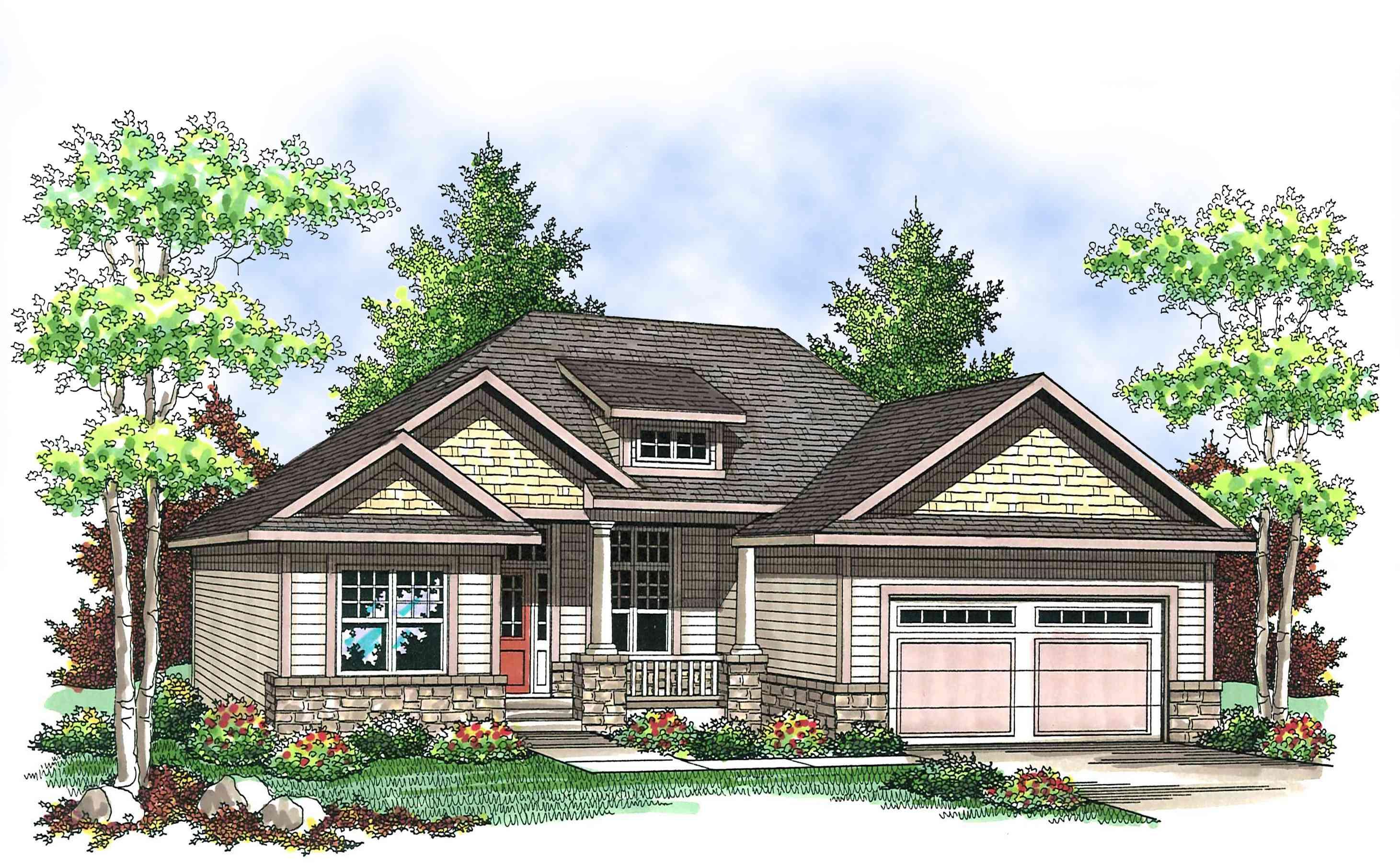 Craftsman Ranch Home Plan - 89655AH