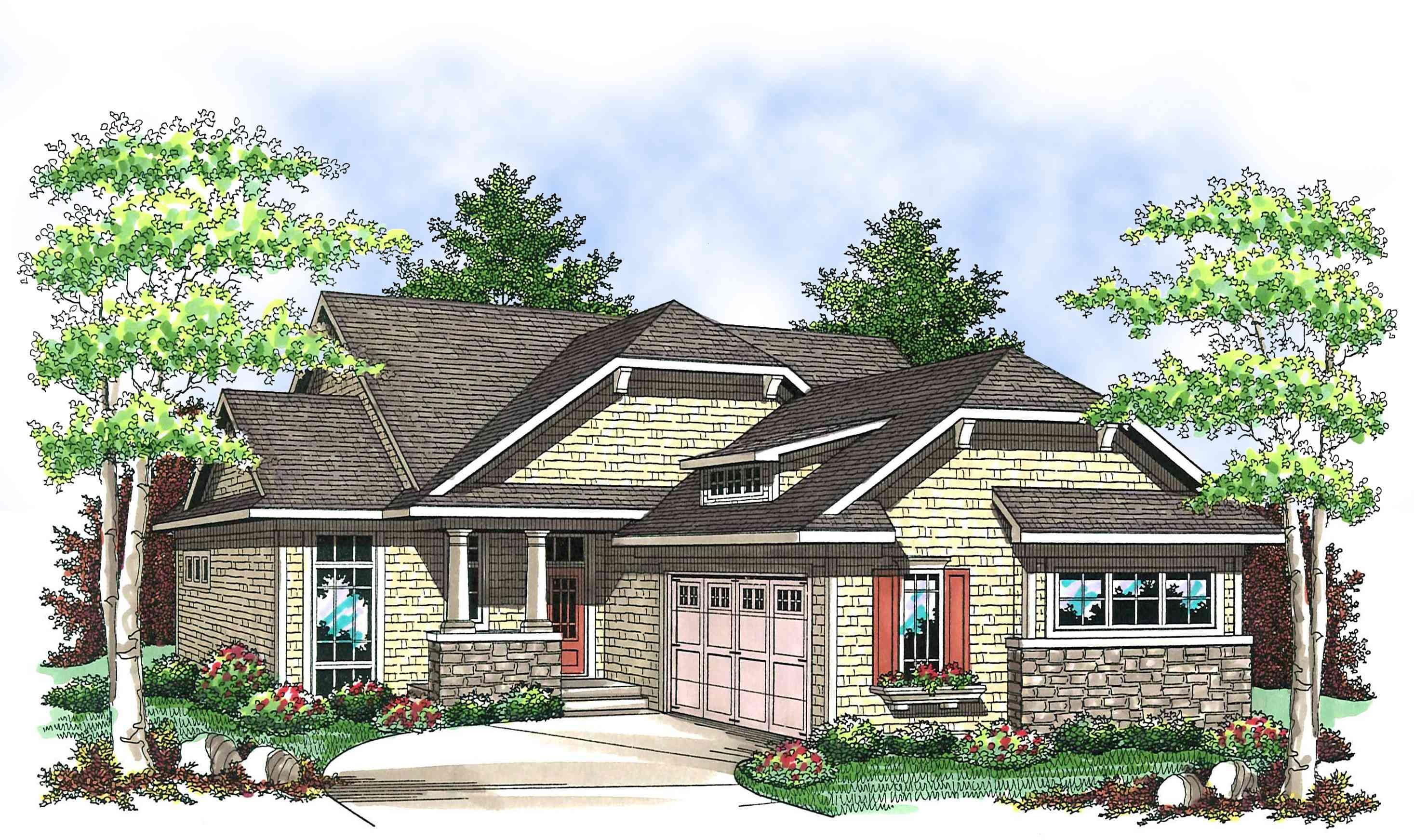 True craftsman charmer 89656ah architectural designs for Architectural designs com