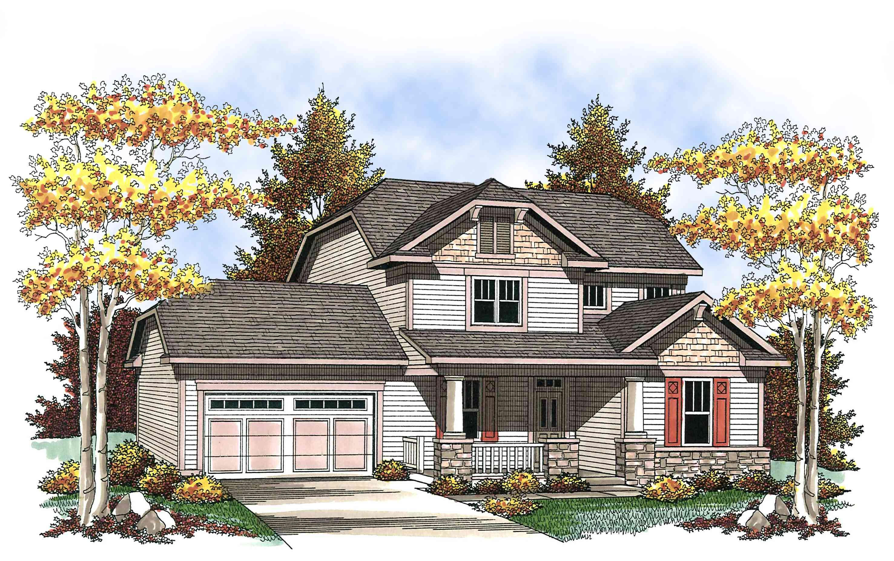 Two story craftsman with spacious front porch 89660ah for Spacious house plans