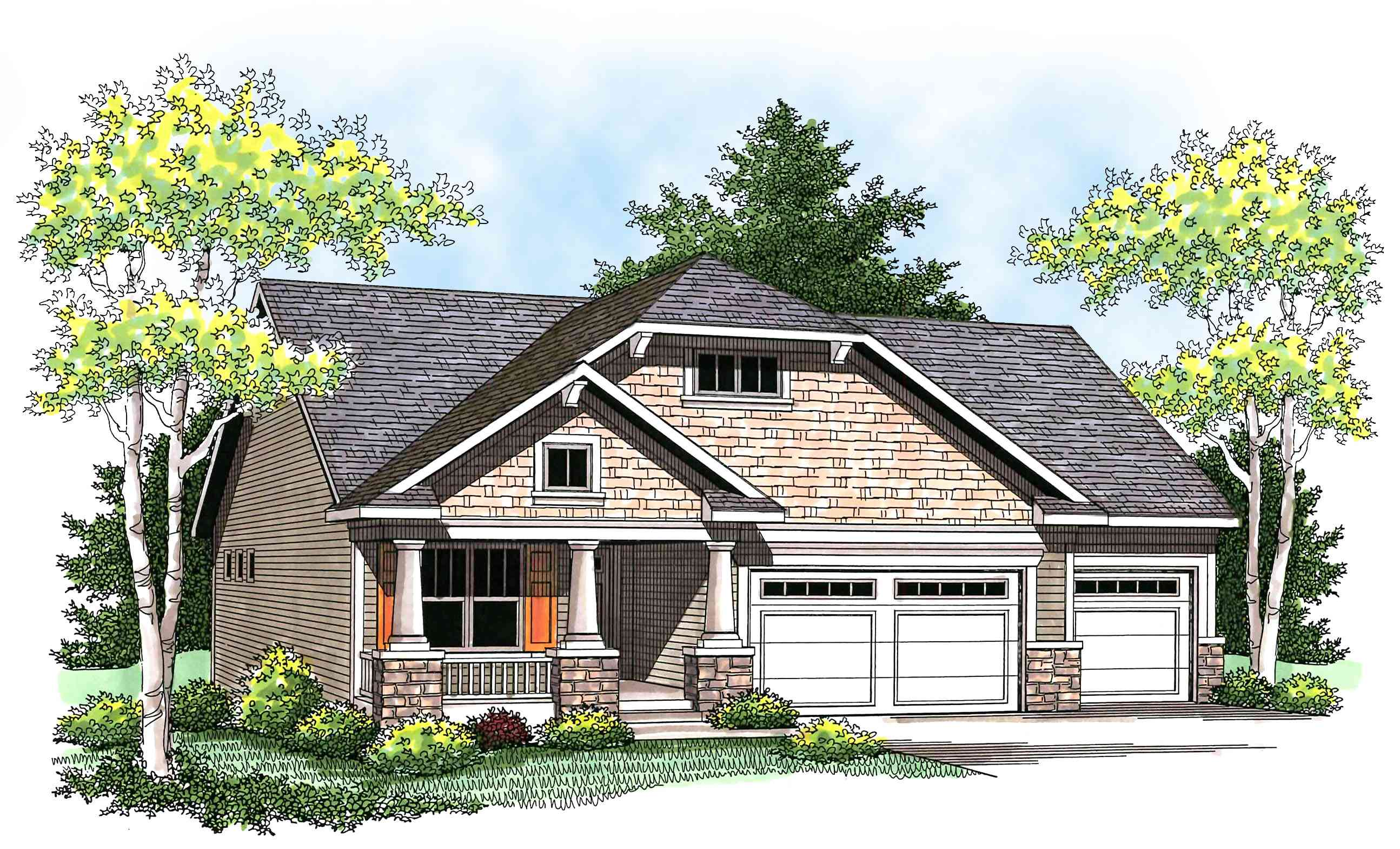 Flexible charming craftsman house plan 89667ah for Flexible house plans