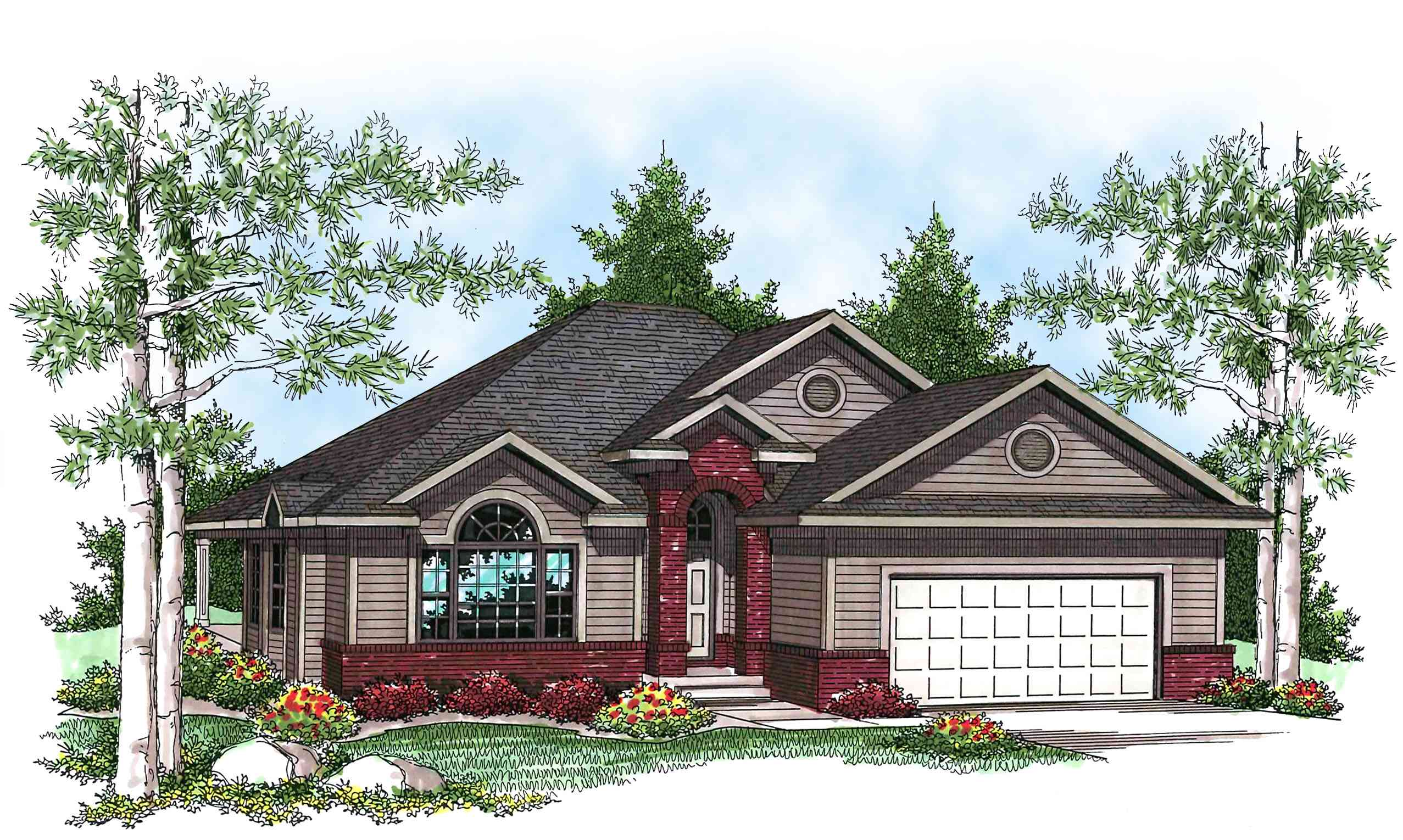 affordable ranch home plan 89678ah architectural On affordable ranch house plans