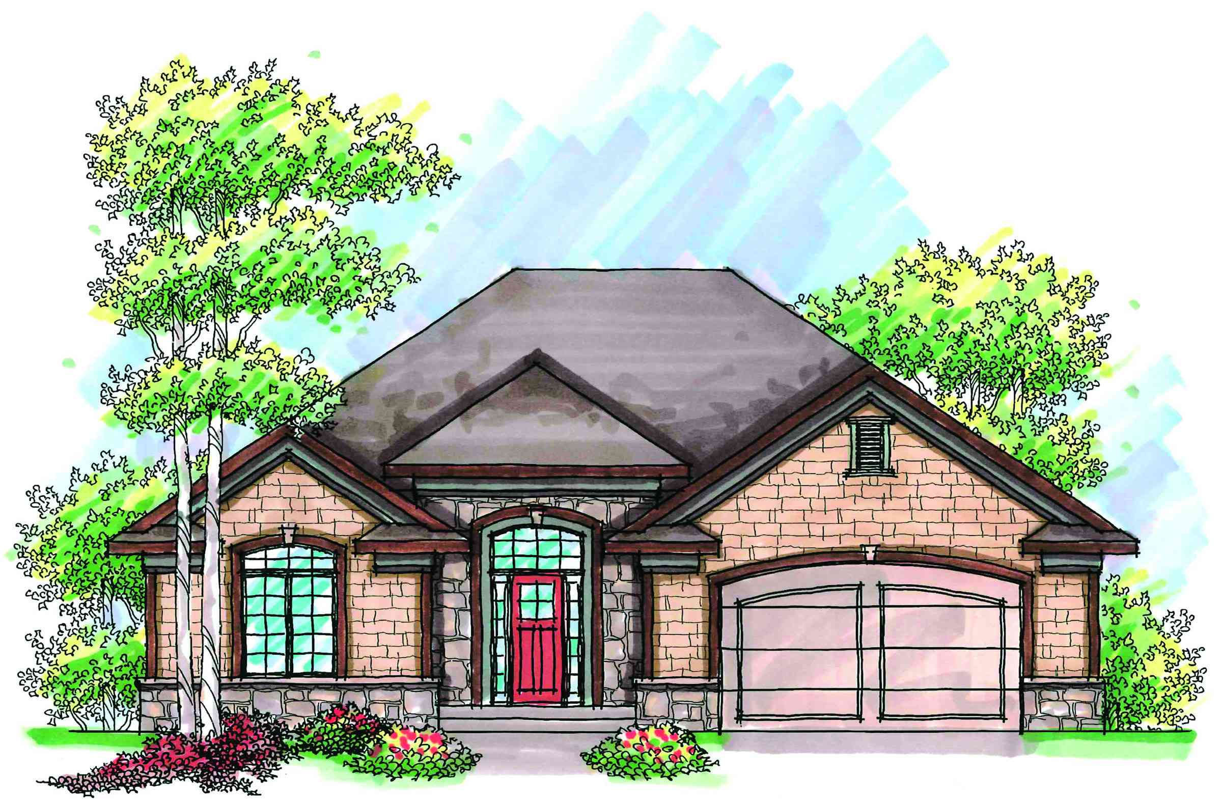 European accent 89695ah architectural designs house for Accent homes floor plans