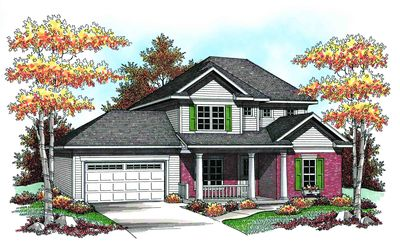 Traditional two story 89698ah architectural designs for Traditional house plans two story