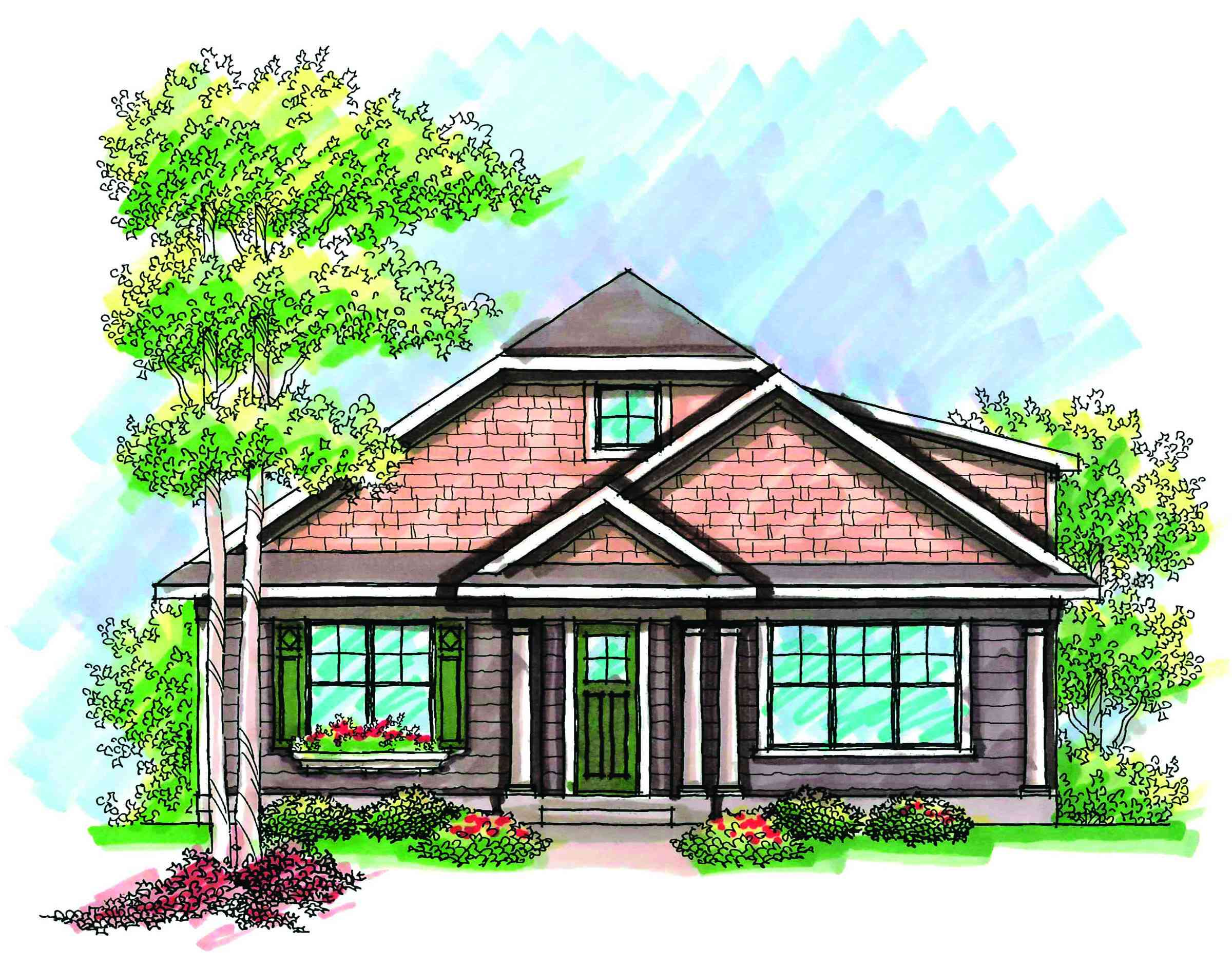 Craftsman with rear load garage 89716ah 1st floor for Bungalow plans with garage