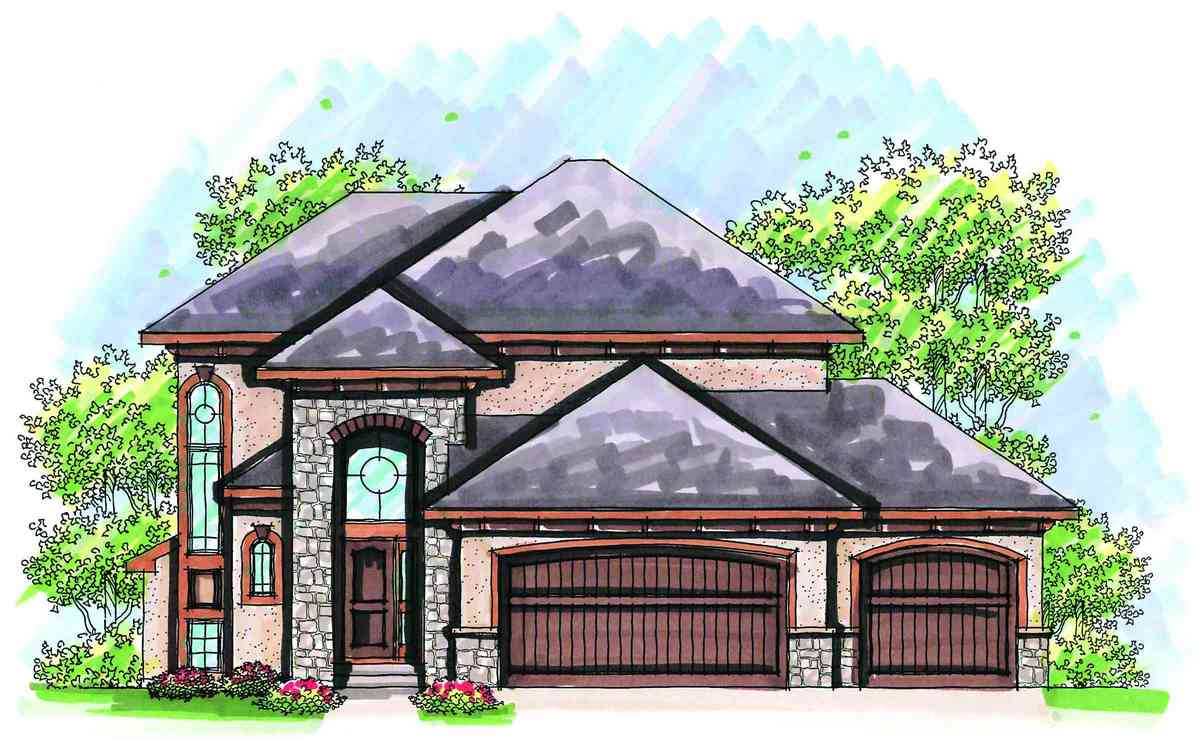 Affordable two story design 89723ah 2nd floor master for Cheap two story house plans