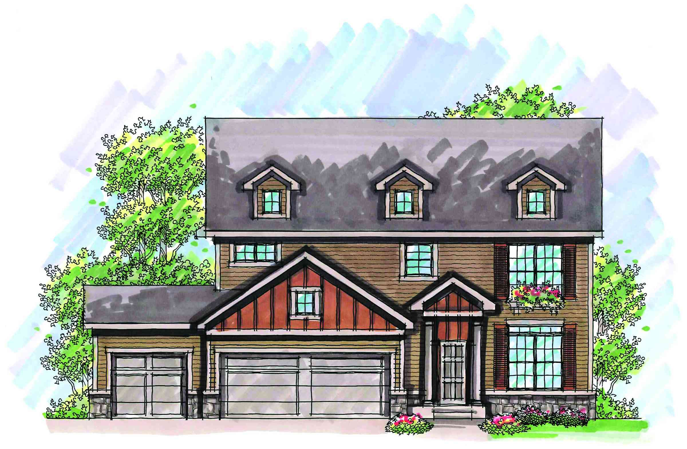 Two story traditional with updates 89738ah 2nd floor for House plans with 2 story library