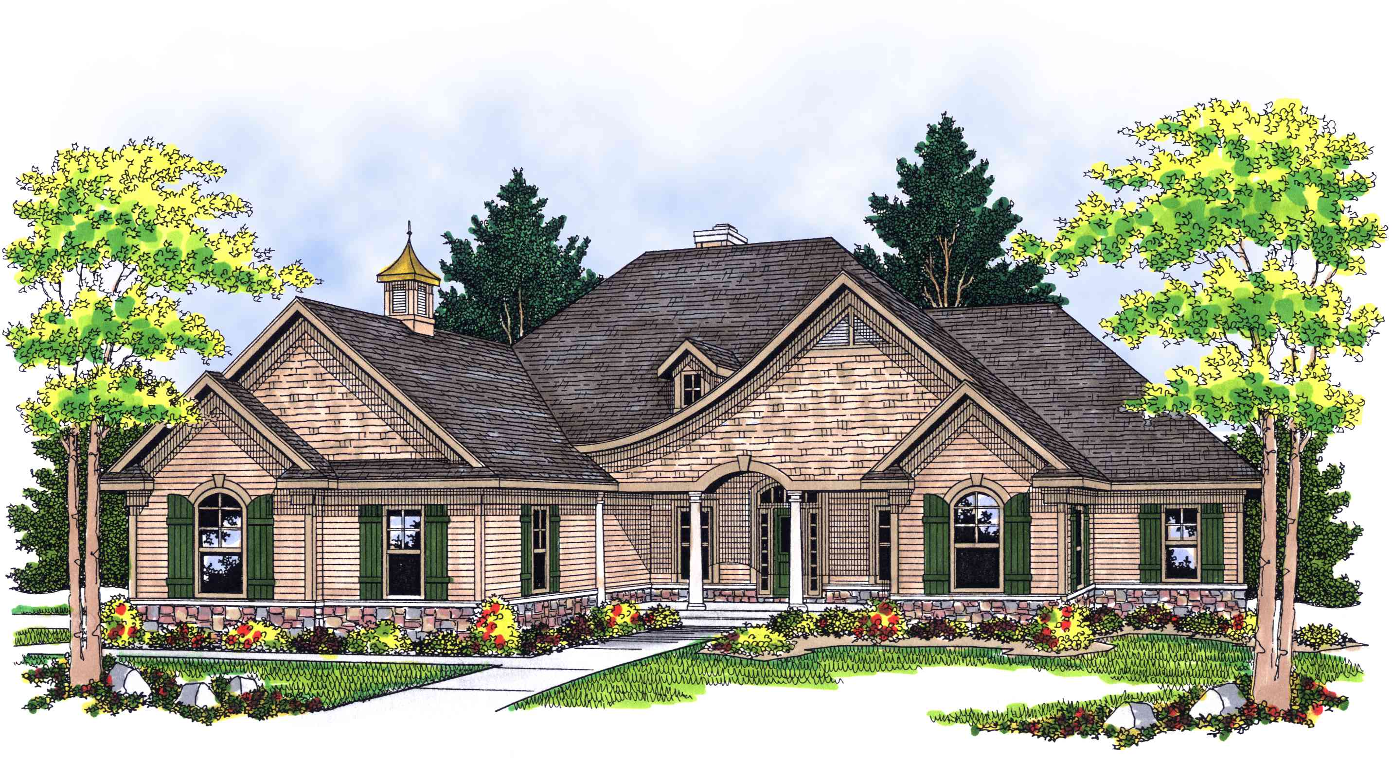 Tradition with a twist 8974ah architectural designs for Architecturaldesigns com house plan 56364sm asp