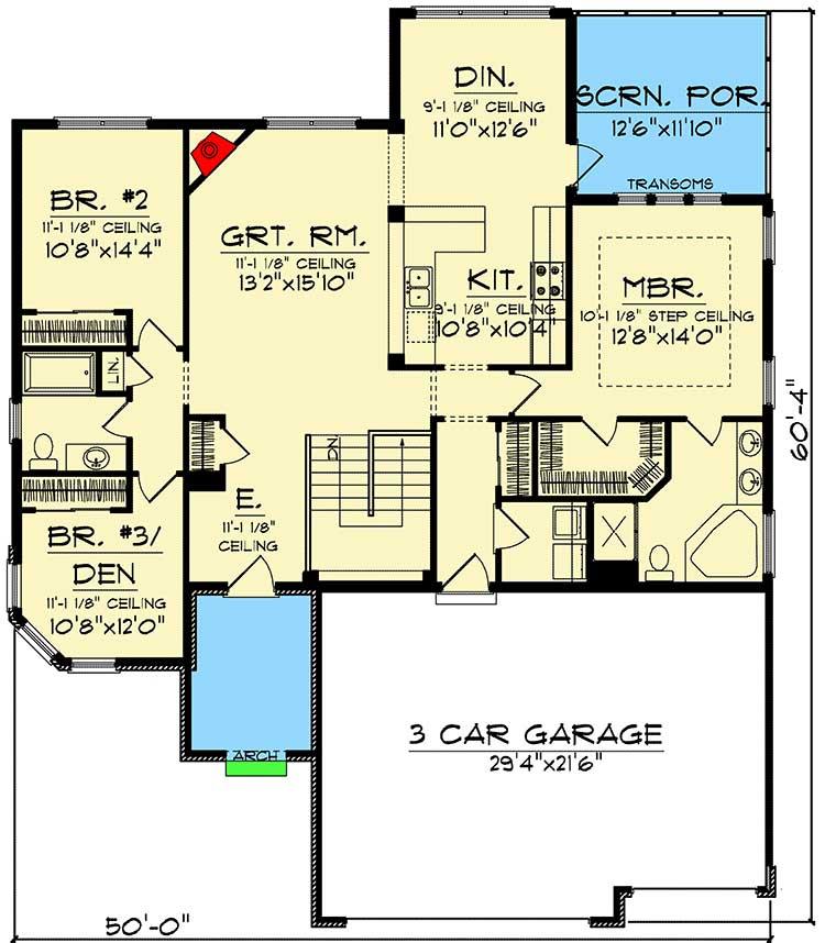Expandable Compact European Home Plan 89740ah