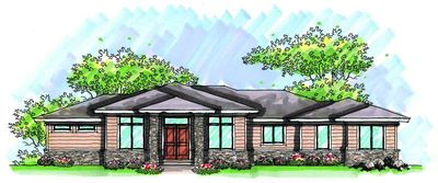 Prairie-Style Home in Two Versions - 89753AH thumb - 01