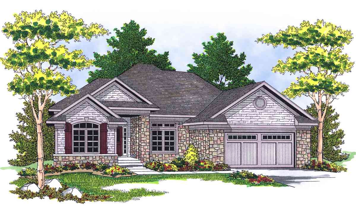 Daylight basement design for sloping lot 8976ah 1st for Daylight basement house plans designs