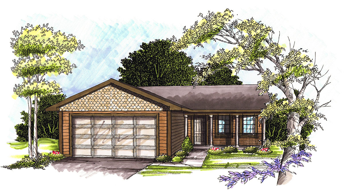 Affordable ranch home plan 89764ah architectural for Cheap ranch style house plans