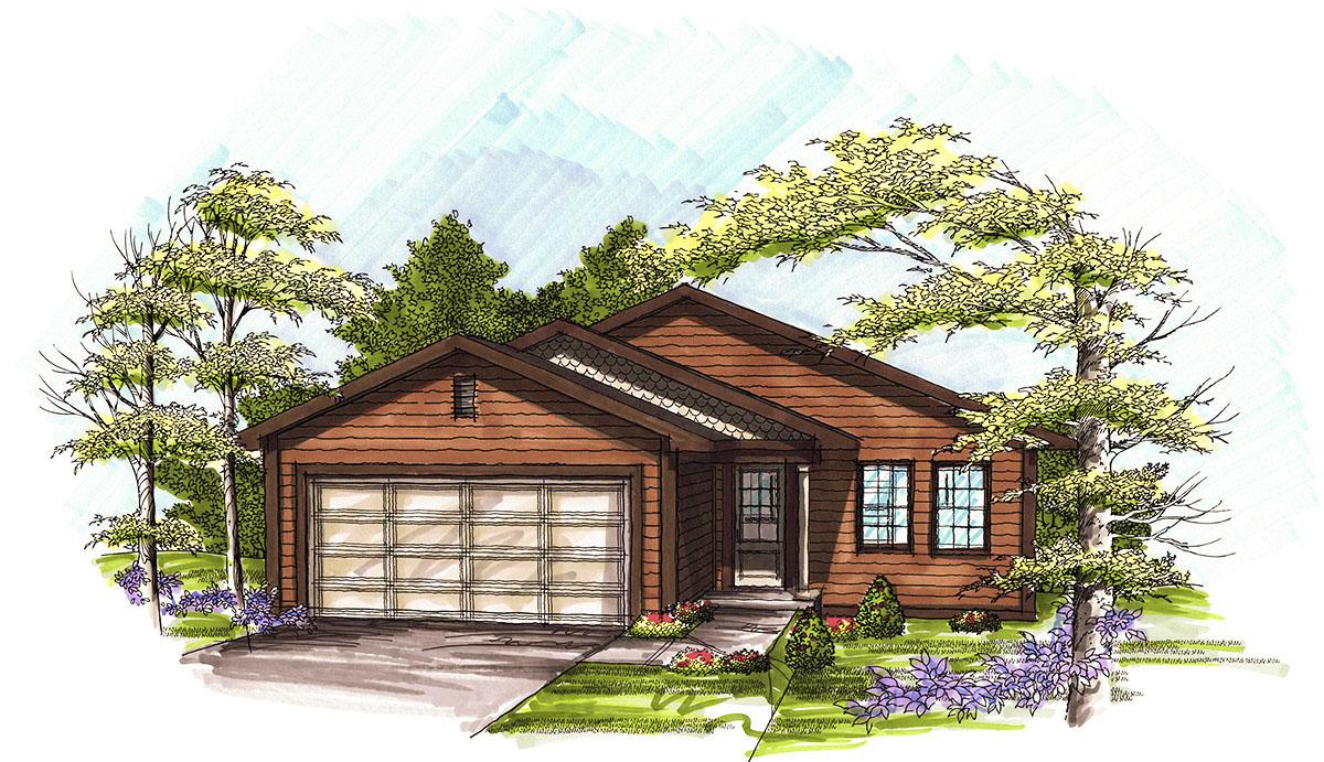 Economical Ranch Home Plan 89766ah Architectural