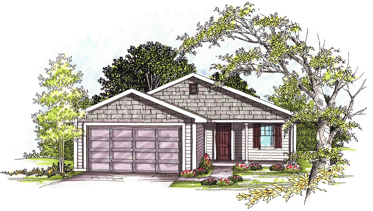 Liveable ranch home plan 89767ah architectural designs for Simple roofline house plans