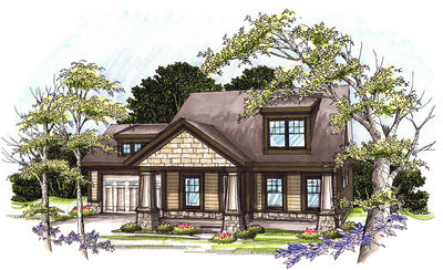 Craftsman Home Plan with Lower Level - 89771AH thumb - 01