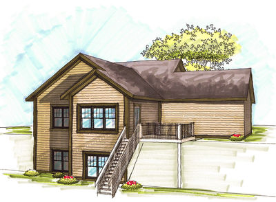 Craftsman Home Plan with Lower Level - 89771AH thumb - 02