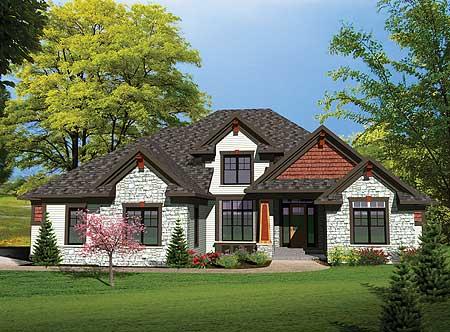 Northwest Home Plan 89809ah 1st Floor Master Suite