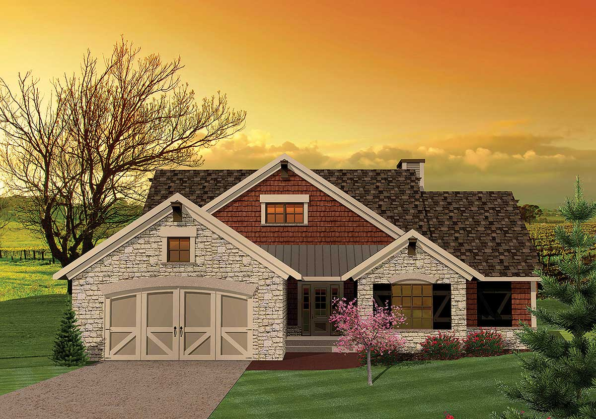 3 bedroom hill country rambler 89815ah 1st floor for 3 bedroom country home plans