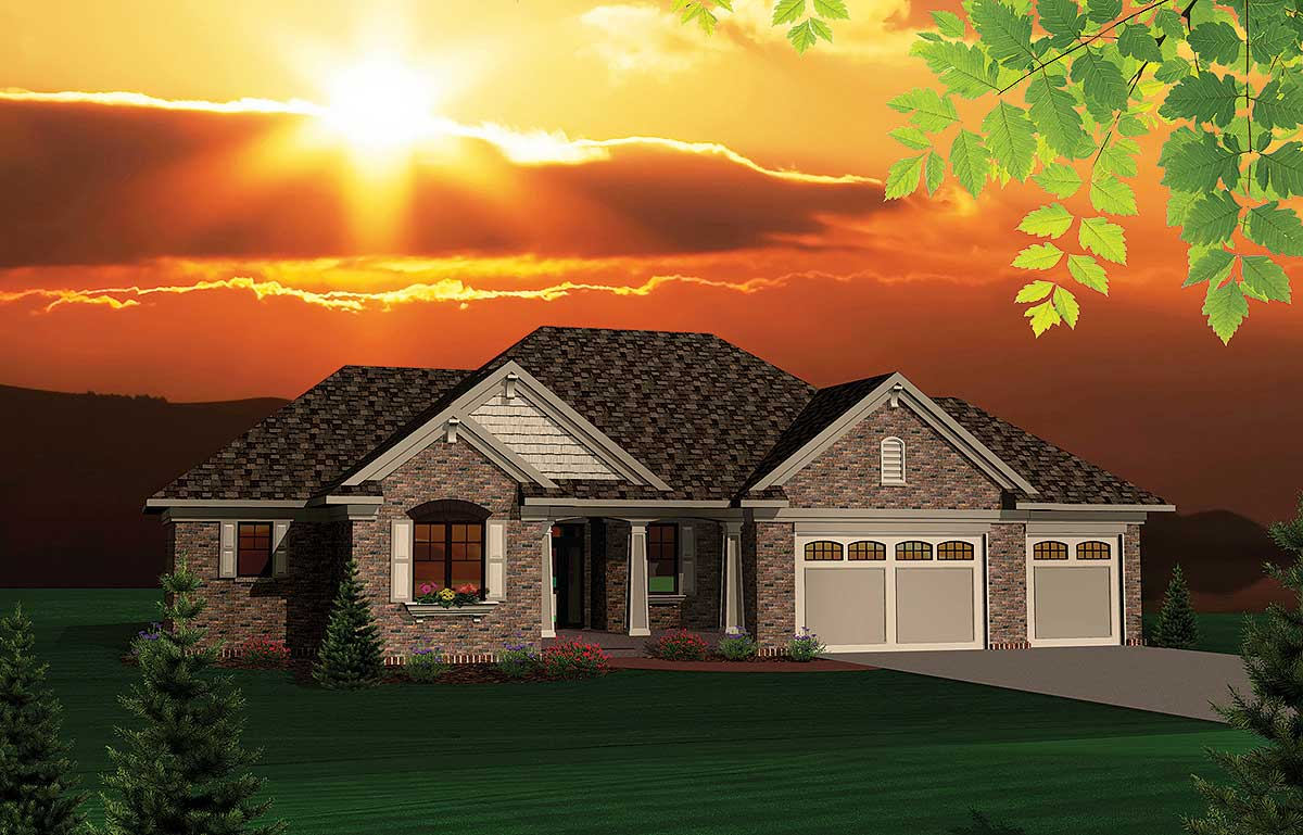 Updated 2 Bedroom Ranch Home Plan 89817ah