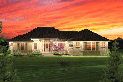 2 Bedroom Hip Roof Ranch Home Plan - 89825AH thumb - 01