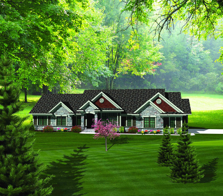 Rambling 3 Bedroom Ranch Home Plan - 89828AH