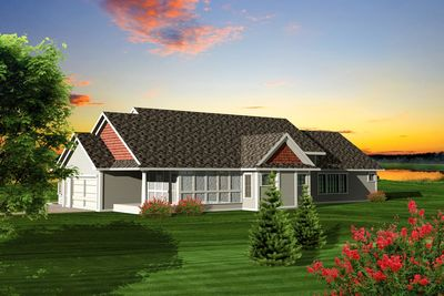 Rambling 3 bedroom ranch home plan 89828ah for Rambling ranch house plans
