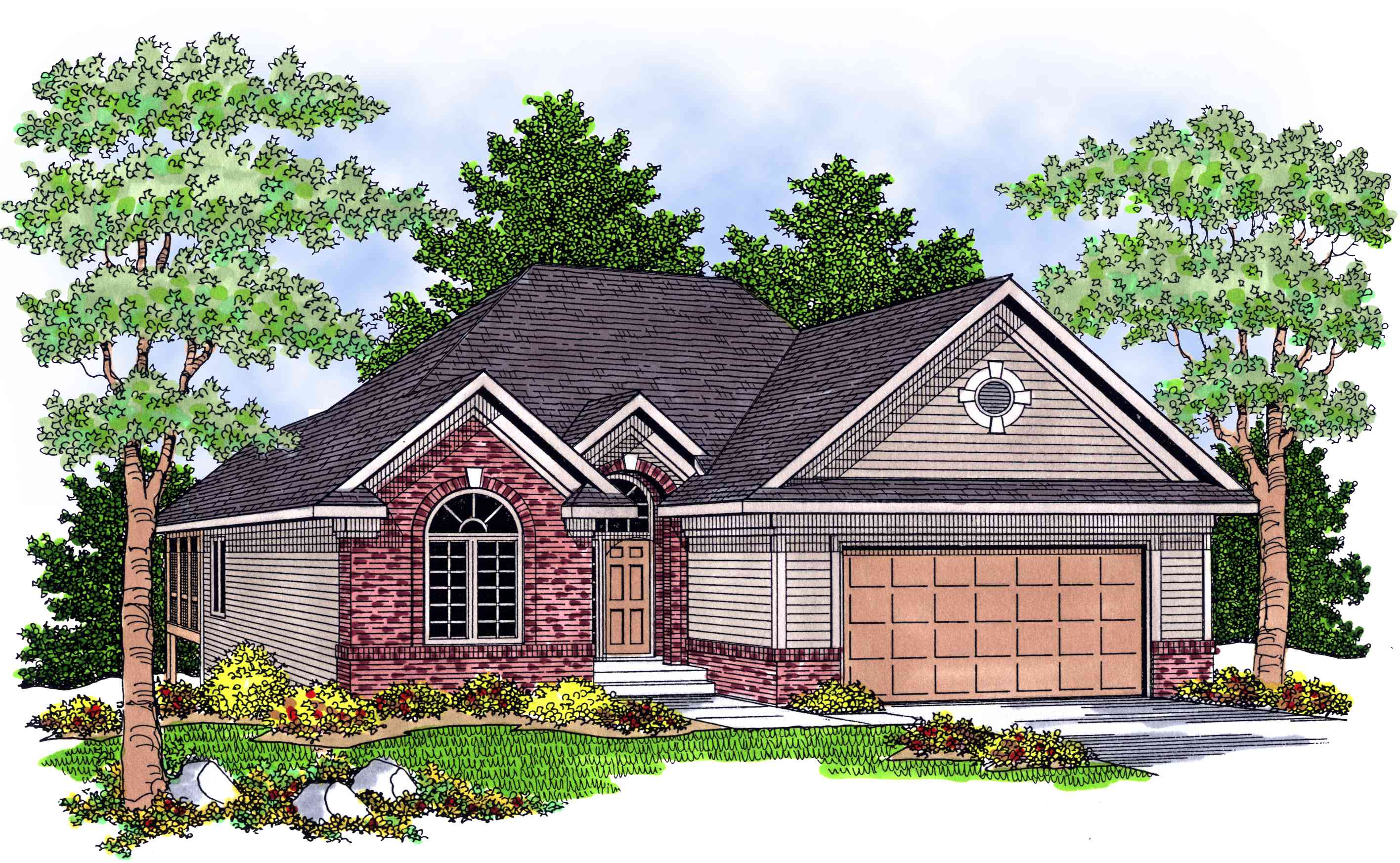Classic ranch home plan 8983ah 1st floor master suite for Classic ranch homes