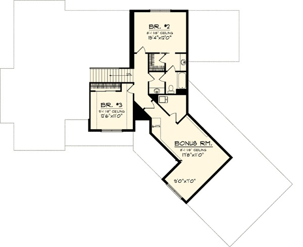 Angled Garage Home Plan 89830ah 1st Floor Master Suite