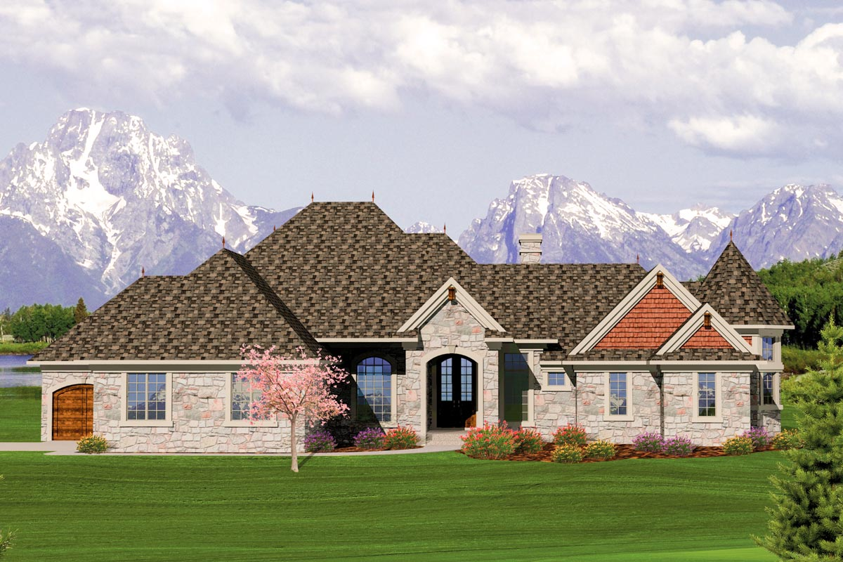 2 bedroom french country home plan 89832ah for 2 bedroom country house plans