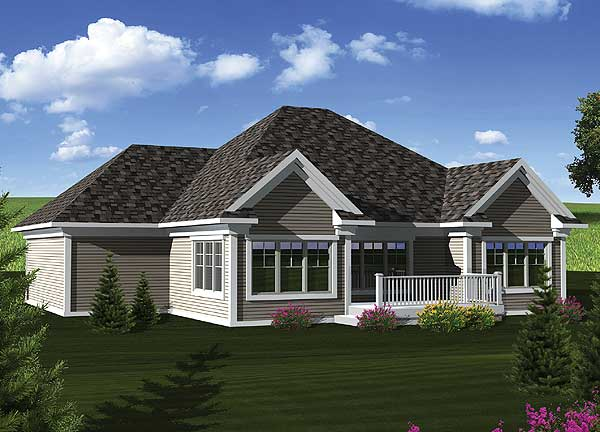 Southern ranch home plan 89843ah 1st floor master for Southern home and ranch