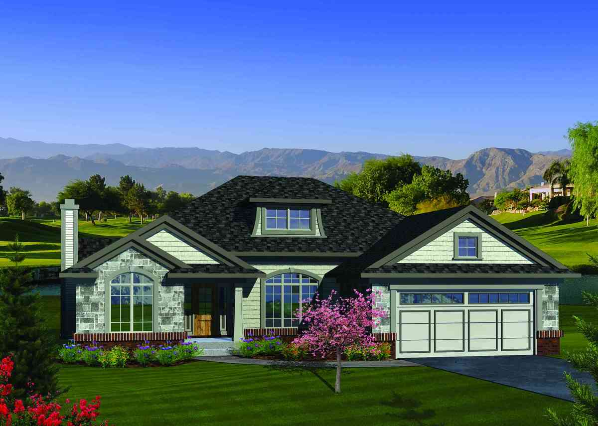 Open concept ranch home plan 89845ah architectural for Open concept ranch home designs