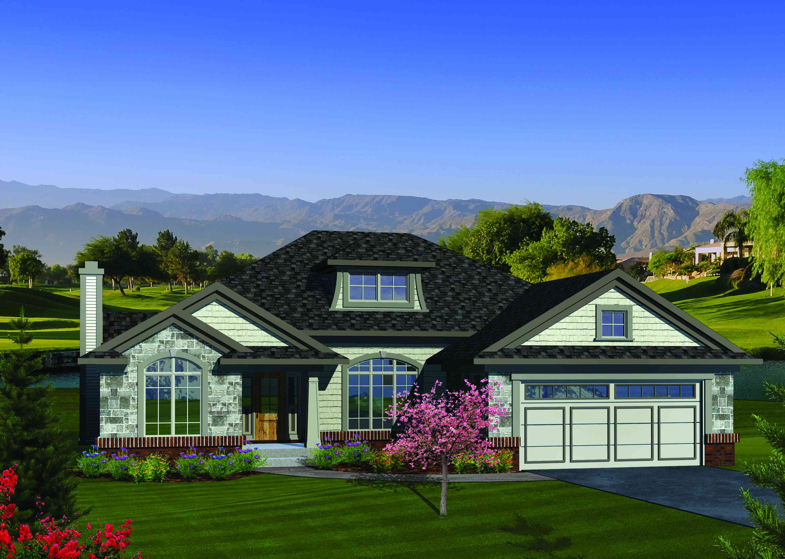 Open concept ranch home plan 89845ah 1st floor master for Architecturaldesigns com house plan 56364sm asp