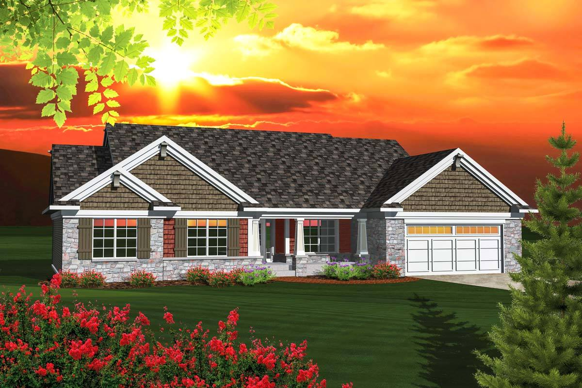 Affordable ranch home plan 89848ah architectural for Ranch home plans with cost to build