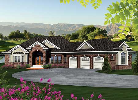 ranch home plan with walkout basement 89856ah 1st floor master