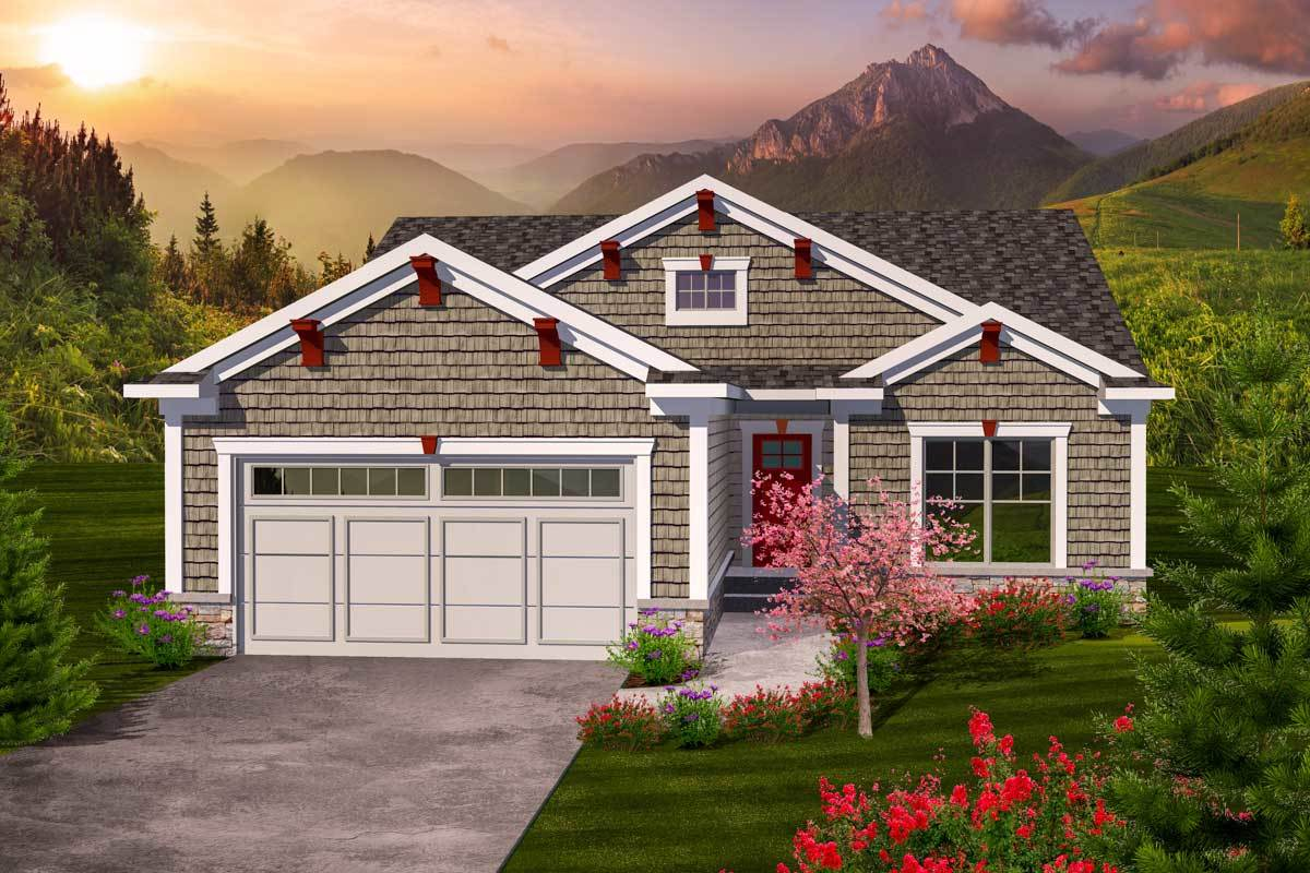 Charming 2 Bedroom Ranch Home Plan