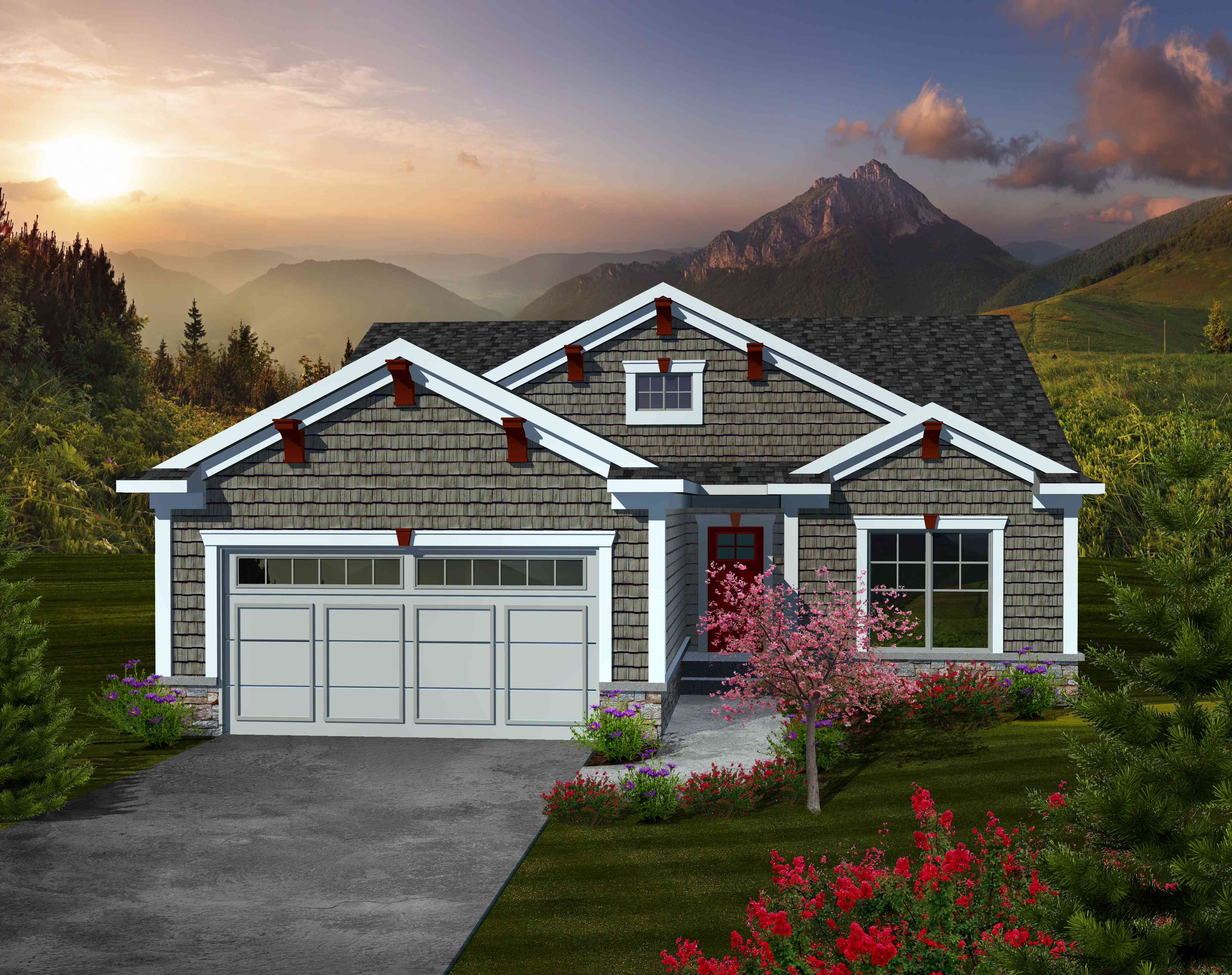 Charming 2 bedroom ranch home plan 89860ah 1st floor for Free craftsman house plans