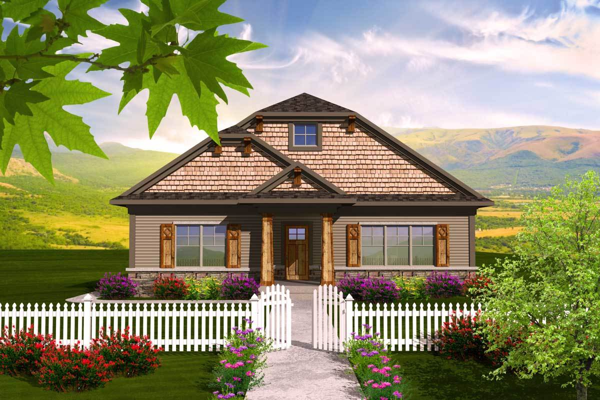 2 bedroom bungalow with sunroom 89864ah architectural for House plans with sunroom