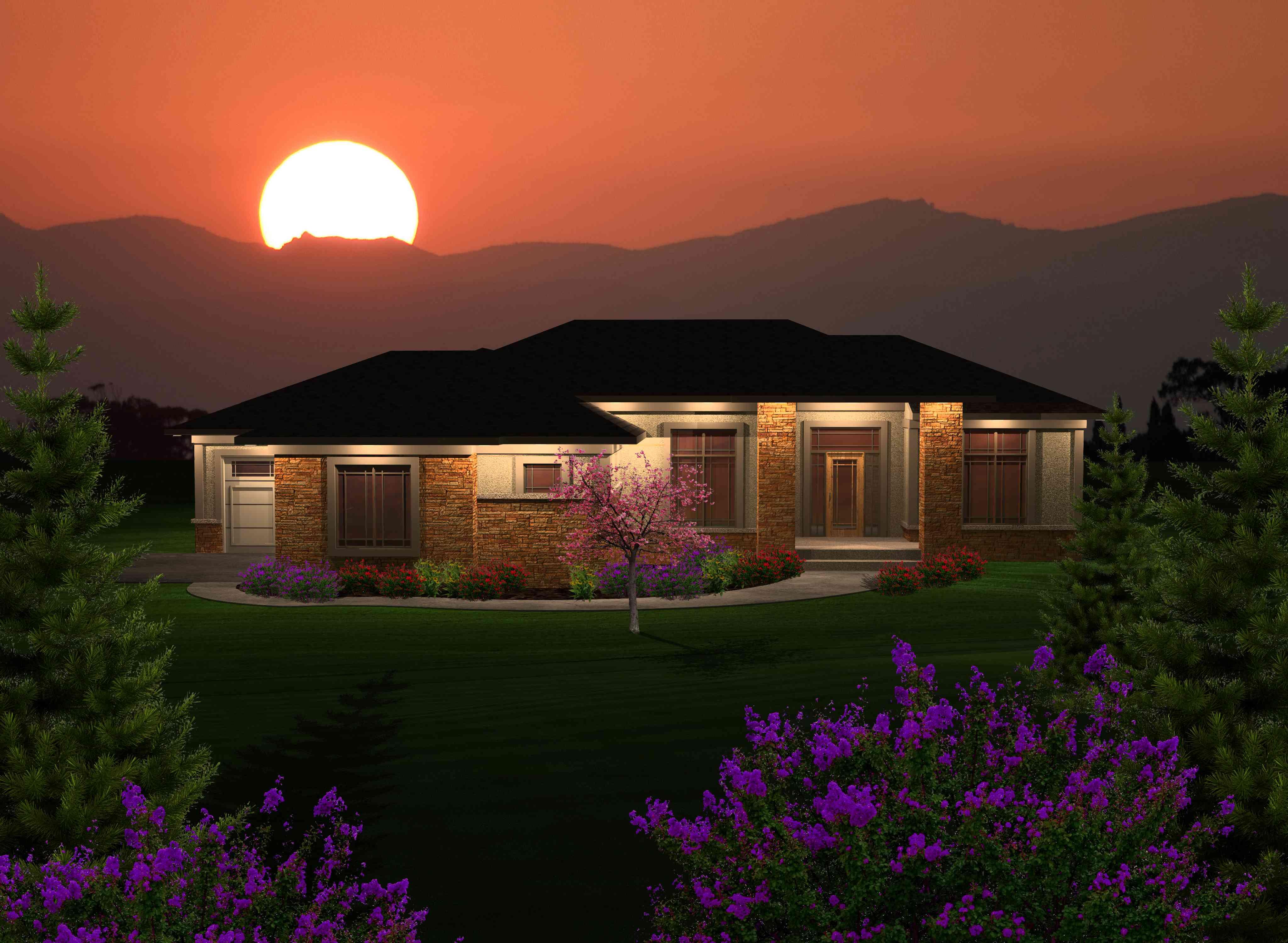 3 bedroom prairie ranch house plan 89870ah 1st floor for Prairie style ranch home designs