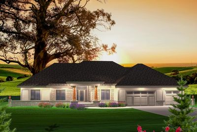 ranch home plan with sunroom 89871ah architectural