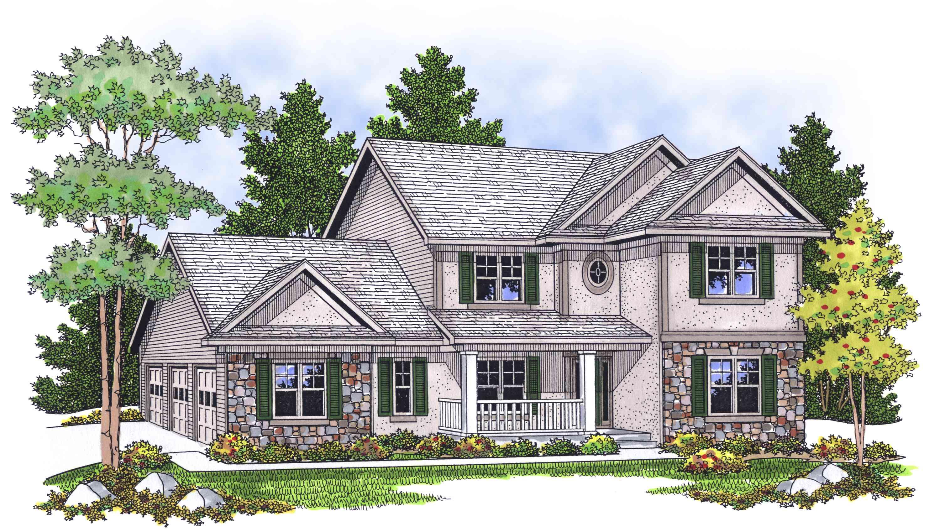 Exterior Home Design with Stucco ~ Art Facade |Stucco House Designs