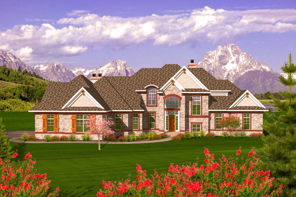 Elegant 2 story french country design 89895ah for Two story french country house plans