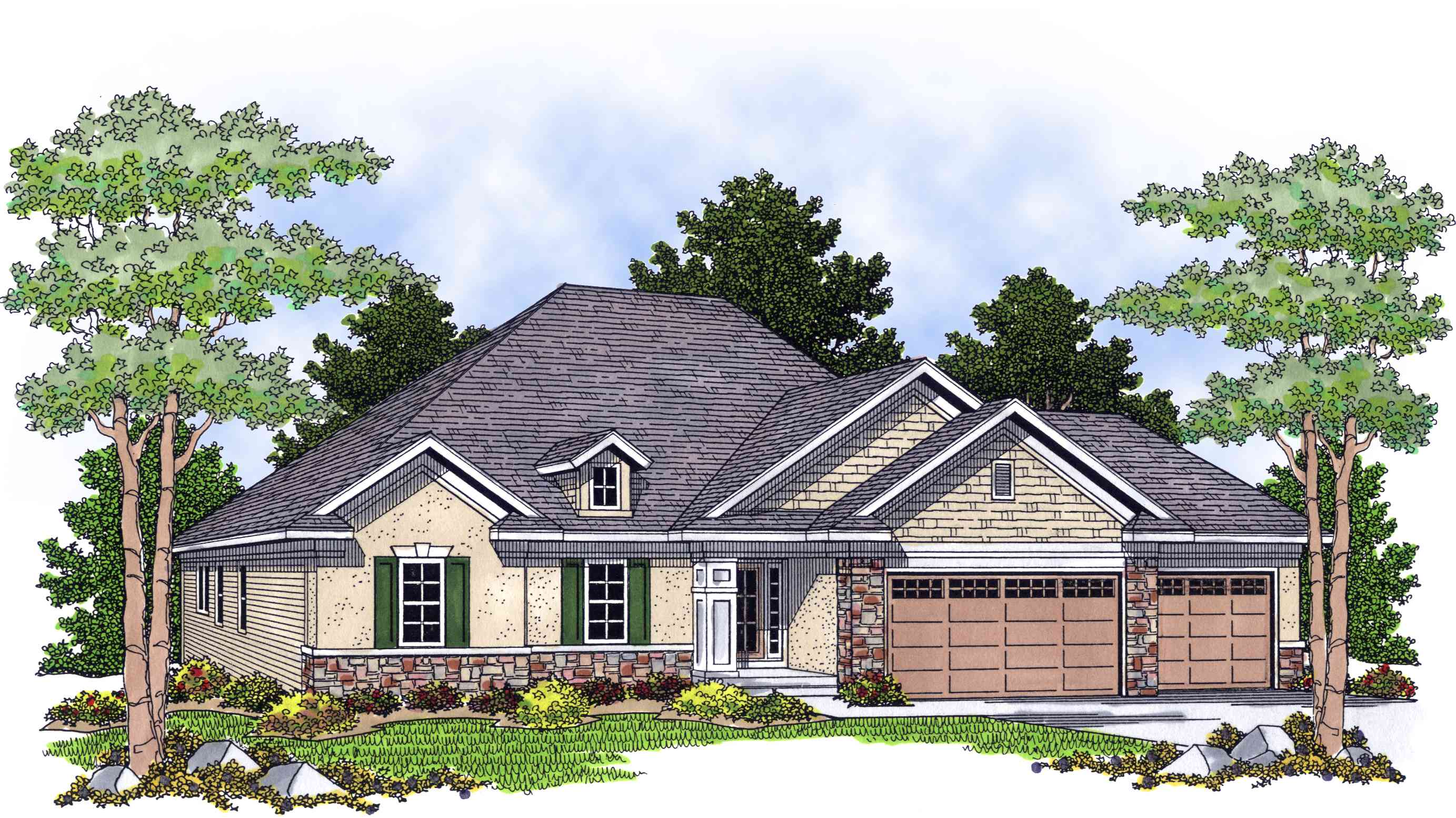Ranch home with great rear views 8990ah 1st floor Rear view home plans