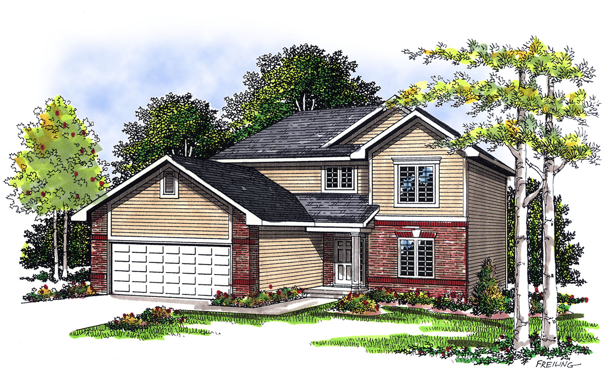 Traditional 2 story house plan 89904ah architectural 2 story traditional house plans