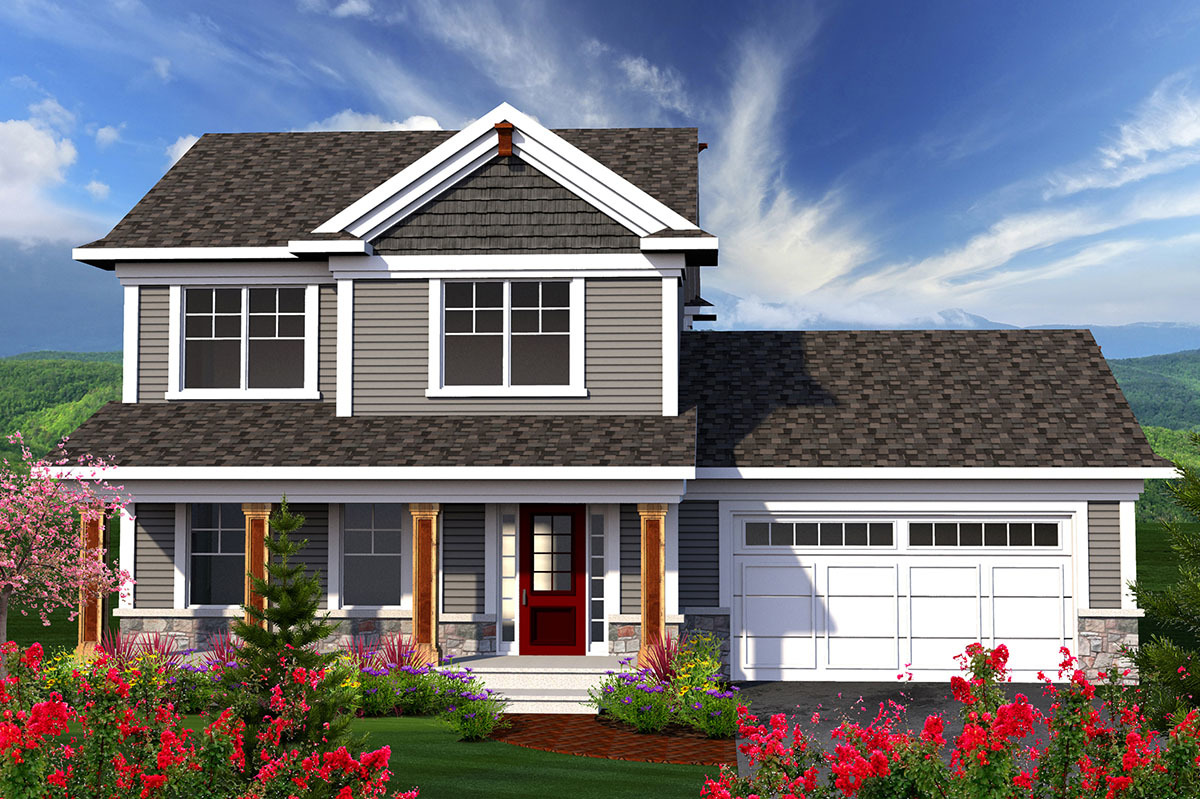 front porch house plans 2 story home with large front porch 89906ah architectural designs house plans 5992