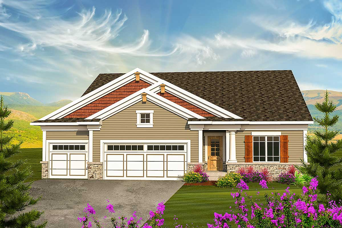 Classic Craftsman Ranch House Plan