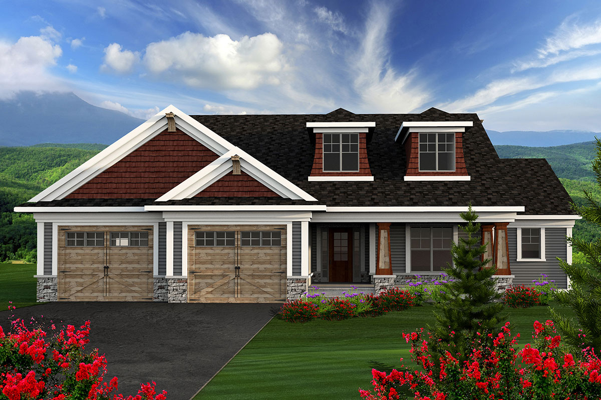 2 bedroom craftsman ranch 89910ah architectural for 2 bedroom craftsman style house plans