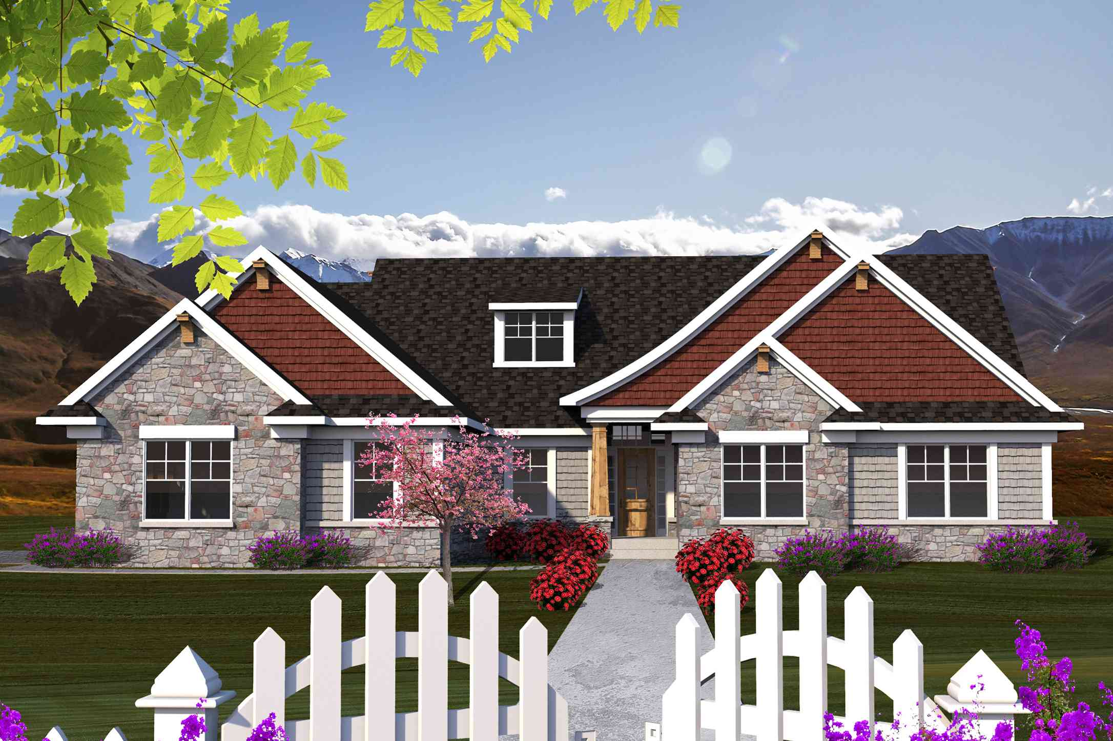 Craftsman ranch with sunroom 89914ah 1st floor master for Ranch house plans with sunroom