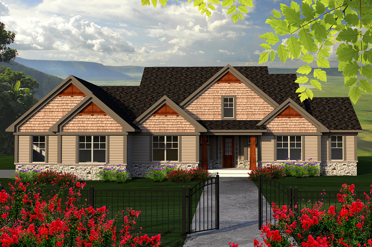 Craftsman House Plan With Screen Porch 89915ah