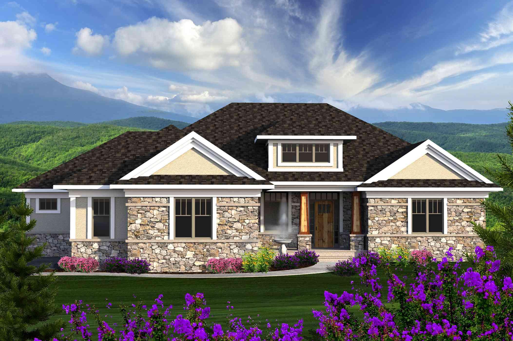 Prairie Ranch House Plan 89921ah 1st Floor Master