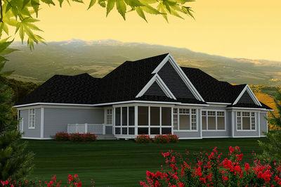 Sprawling Craftsman Ranch House Plan 89922ah 1st Floor